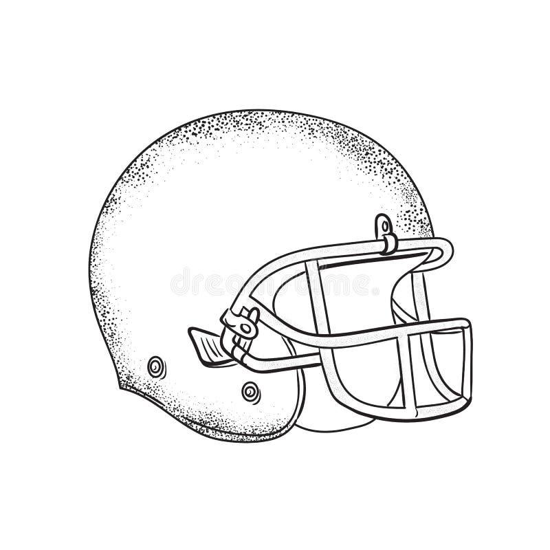 Dessin noir et blanc de casque de football am ricain illustration de vecteur image 85655173 - Dessin football americain ...