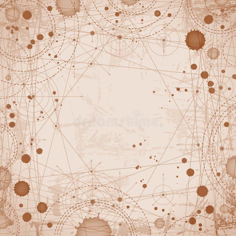 Dessin pointillé par résumé géométrique, projet d'architecture illustration libre de droits