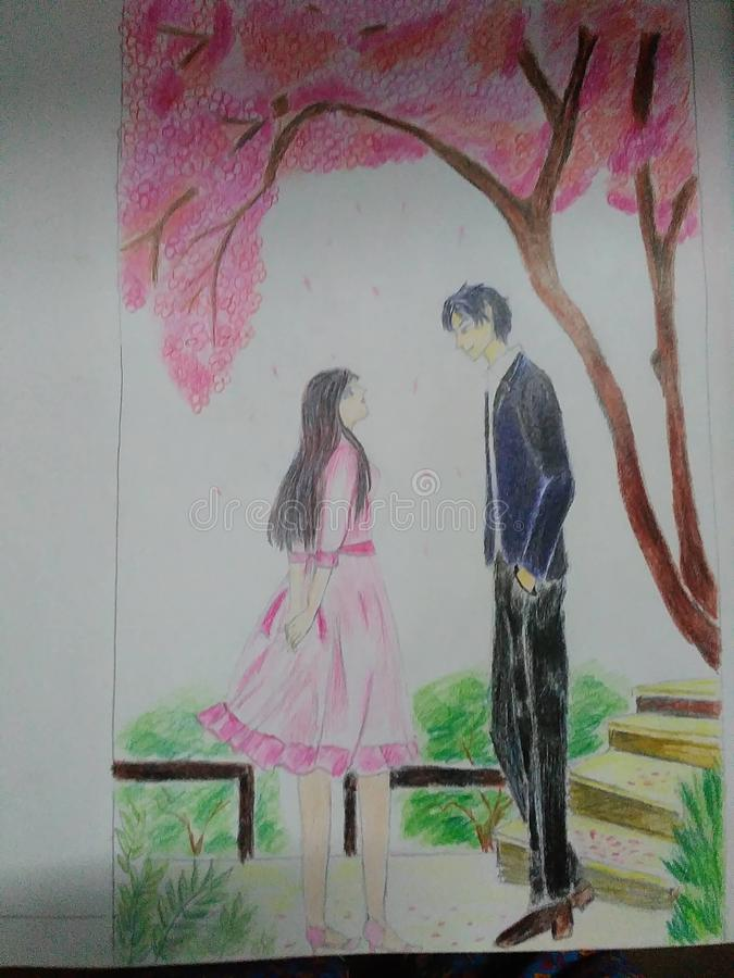 dessin romantique photos libres de droits