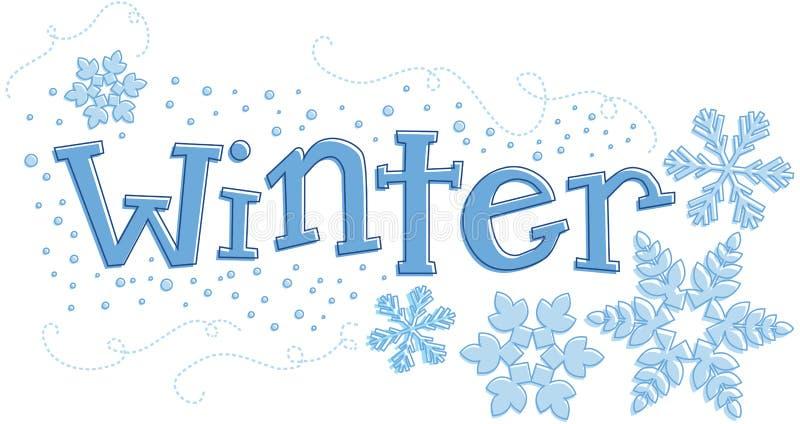 Dessin saisonnier de l'hiver illustration libre de droits