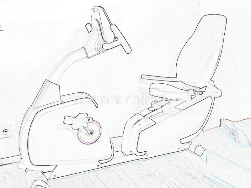 Dessin schématique de vélo illustration stock