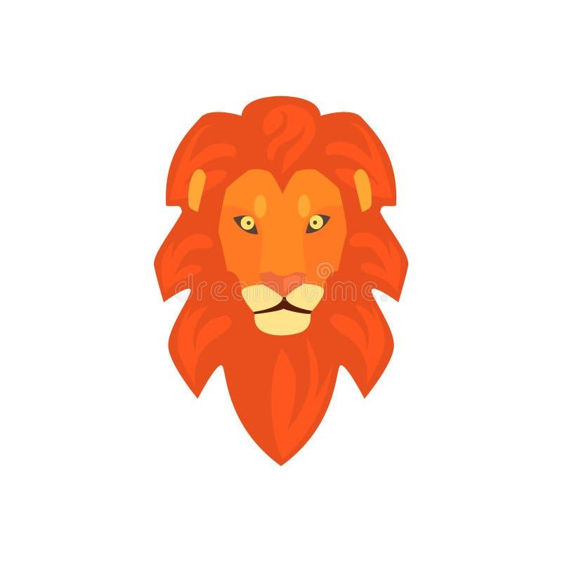 Dessin Simplifie Realiste Principal De Lions Illustration De