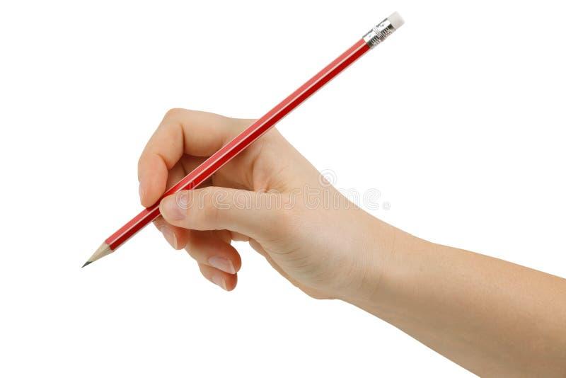 Dessinant une gomme à effacer de crayon à disposition photos libres de droits