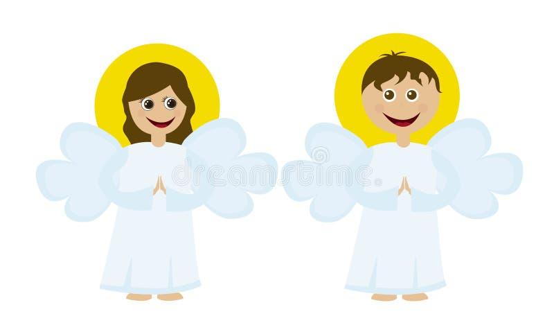 Dessins animés d'anges illustration de vecteur