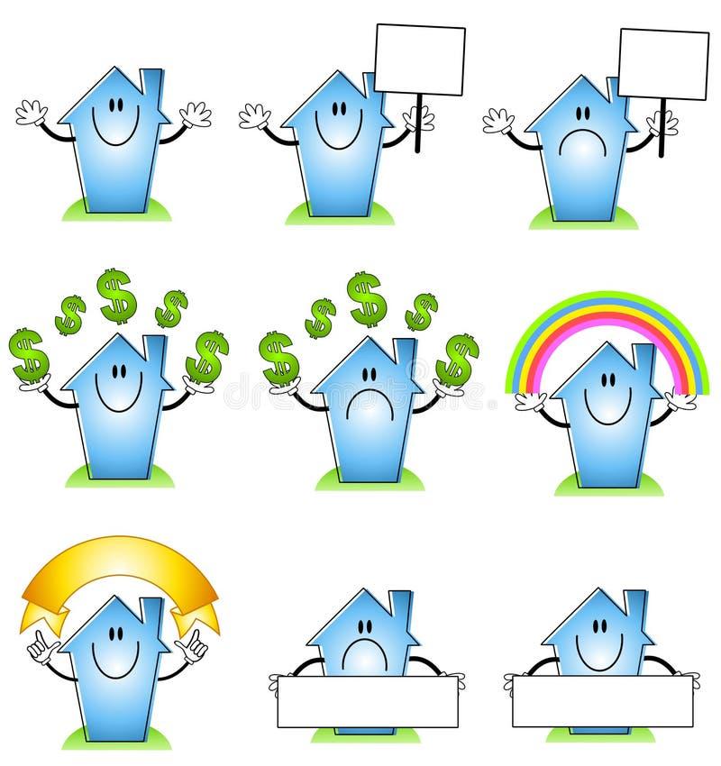 Dessins animés de Chambre et à la maison illustration stock