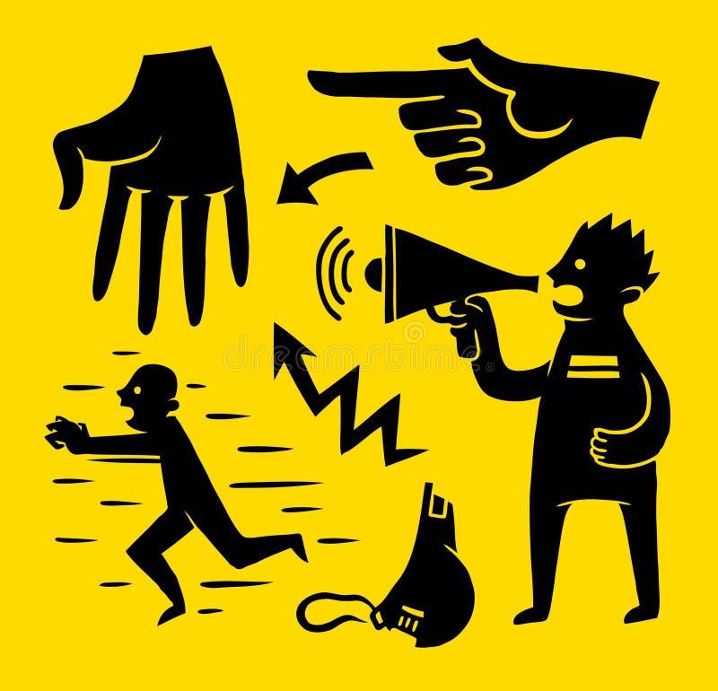 Dessins d'activité illustration libre de droits