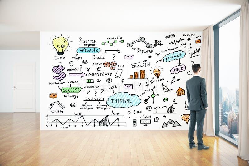 Download Dessins D'affaires Sur Le Mur Image stock - Image du créativité, griffonnage: 77159123