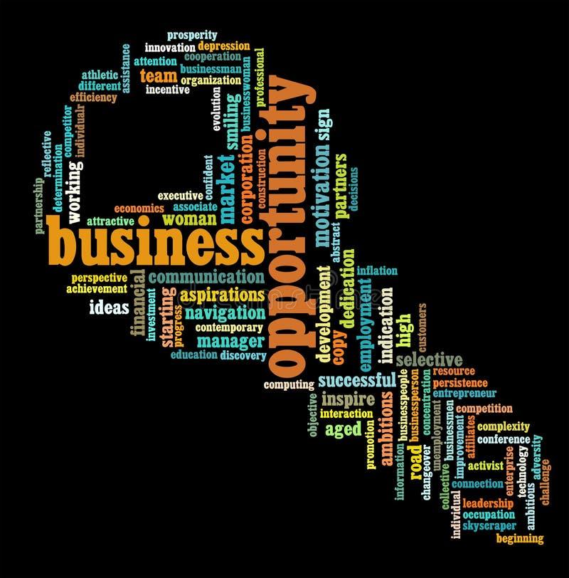 Dessins d'information-texte d'opportunité commerciale illustration libre de droits