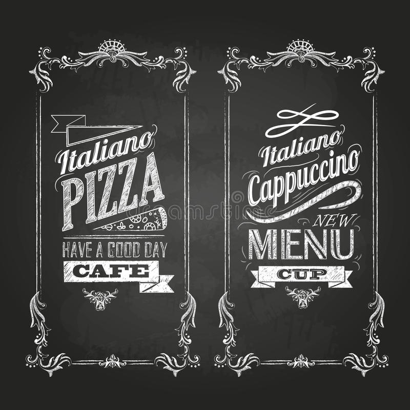 Dessins de craie Rétro typographie illustration de vecteur