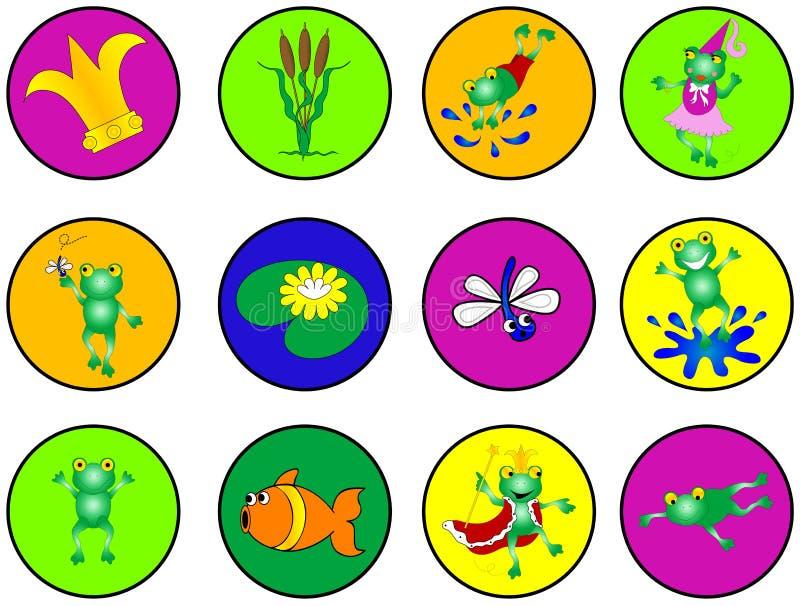 Dessins de grenouille illustration libre de droits