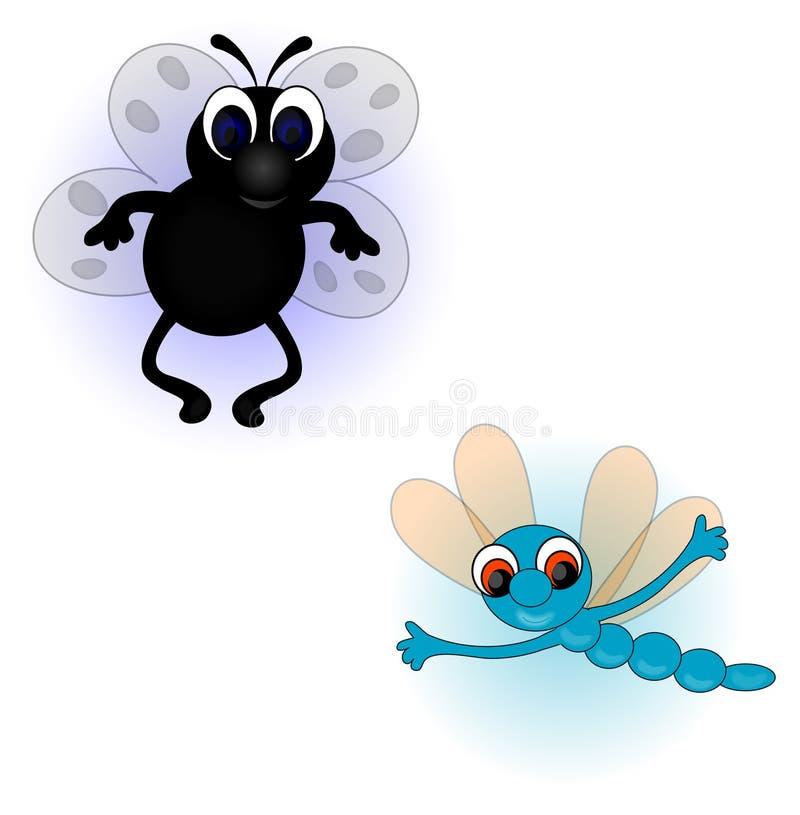 Dessins de mouche illustration libre de droits