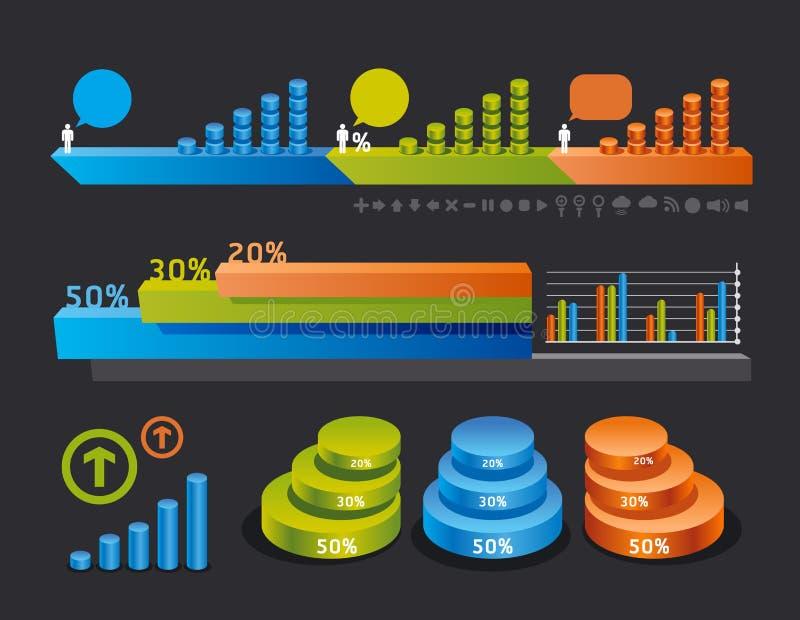 Dessins de positionnement et d'information d'Infographics illustration de vecteur