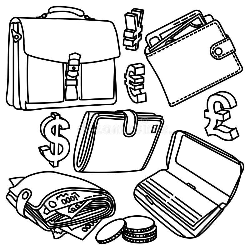 Dessins de vecteur de finances illustration de vecteur