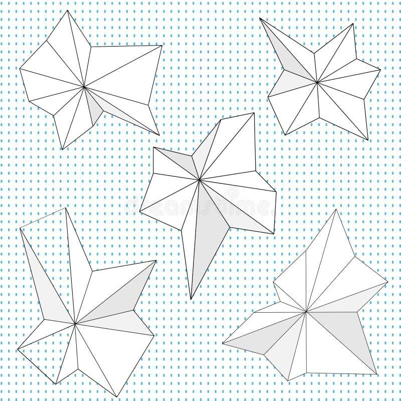 Dessins géométriques aigus abstraits illustration libre de droits