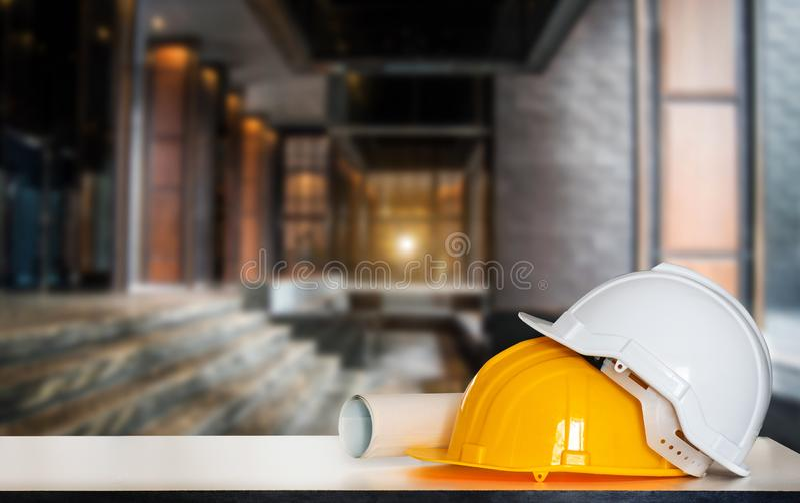 Dessins pour la construction et le casque image stock
