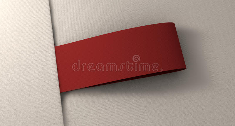 Dessus étroit de tissu d'OnWhite d'étiquette de vêtement illustration de vecteur
