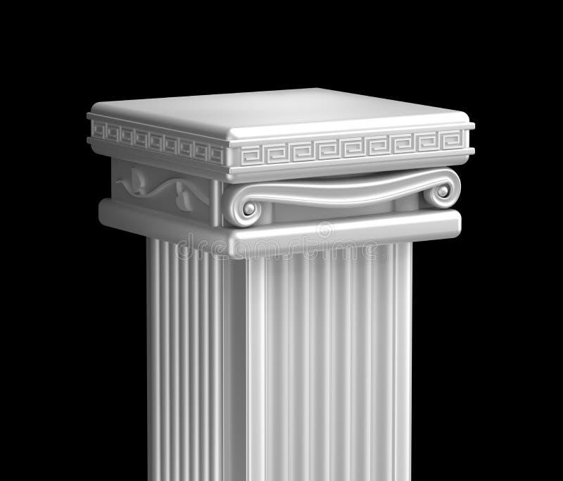 Dessus antique de pilier. illustration stock