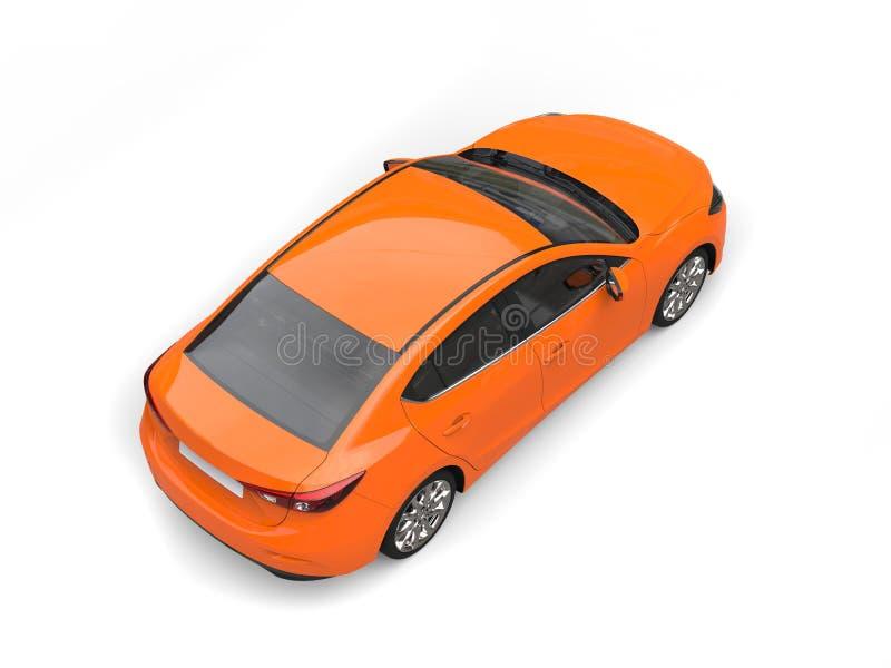 Dessus automobile d'affaires modernes oranges chaudes en bas de vue photographie stock