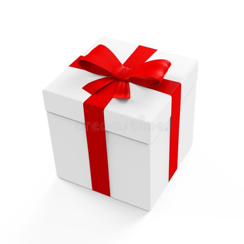 Dessus blanc de boîte de paquet de cadeau images stock