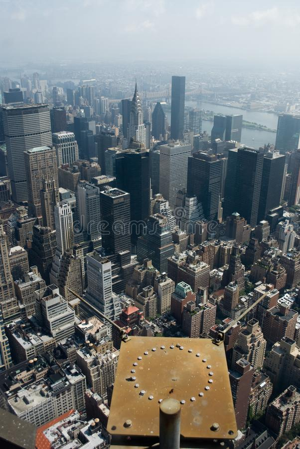 Dessus d'Empire State Building, NYC images stock
