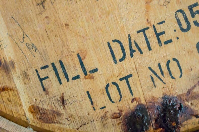 Dessus de baril de Bourbon photos stock