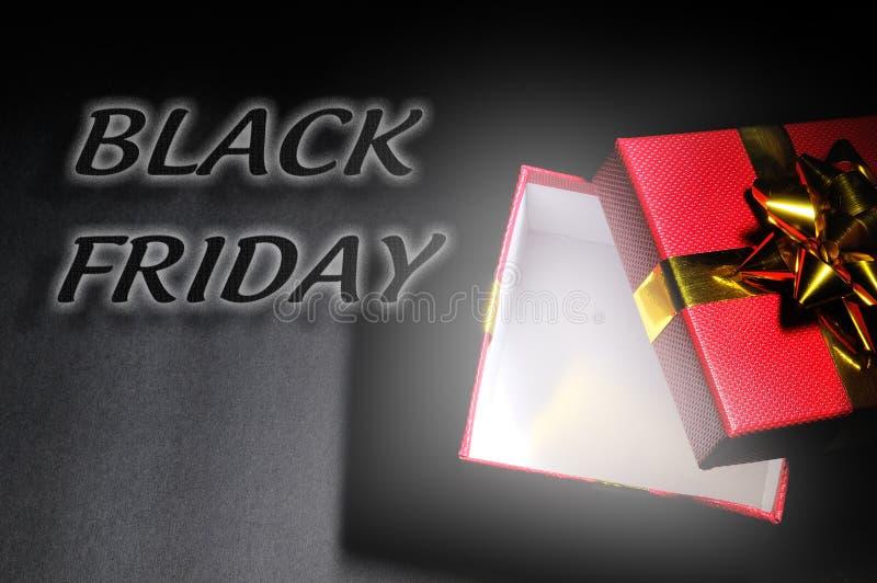 Dessus de Black Friday de concept d'achats de cadeau photos stock