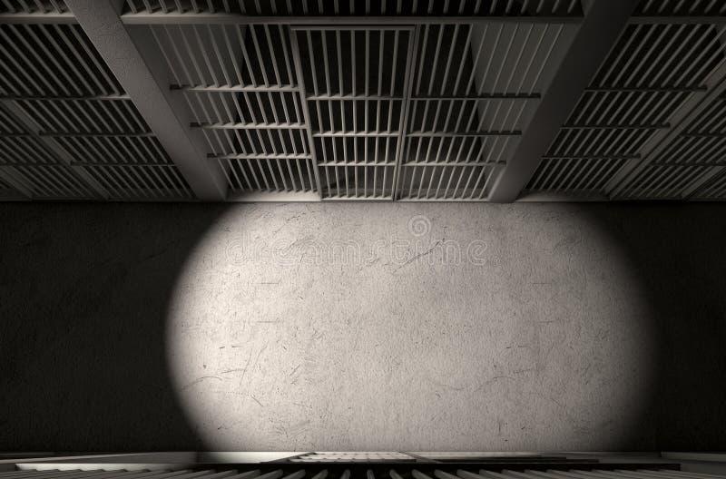 Dessus de couloir de cellules de prison photo libre de droits