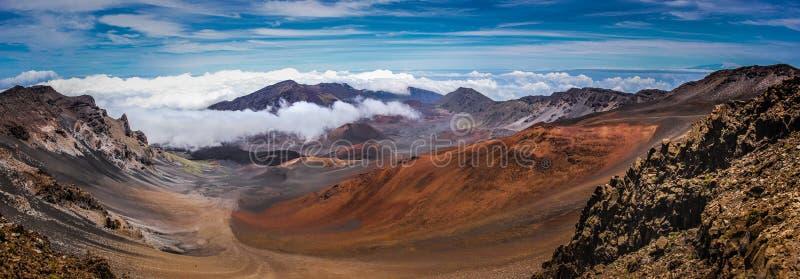 Dessus de cratère de Haleakala images stock