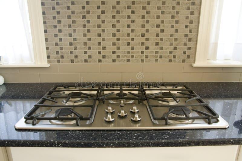 Dessus de cuisinière à gaz images stock