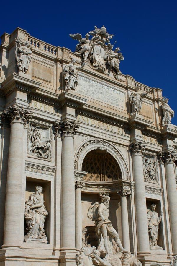 Dessus de fontaine célèbre de TREVI à Rome, Italie images libres de droits