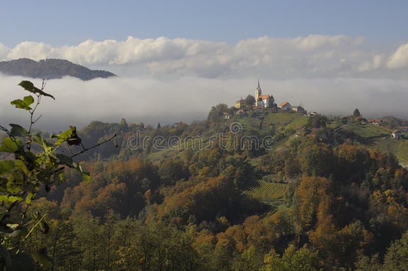 Dessus de la Slovénie photographie stock libre de droits