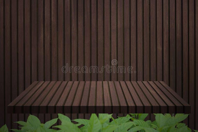 Dessus de la table en bois image libre de droits