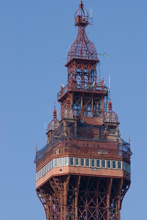 Dessus de la tour de Blackpool images libres de droits