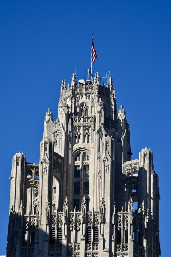 Dessus de la tour de Tribune image stock