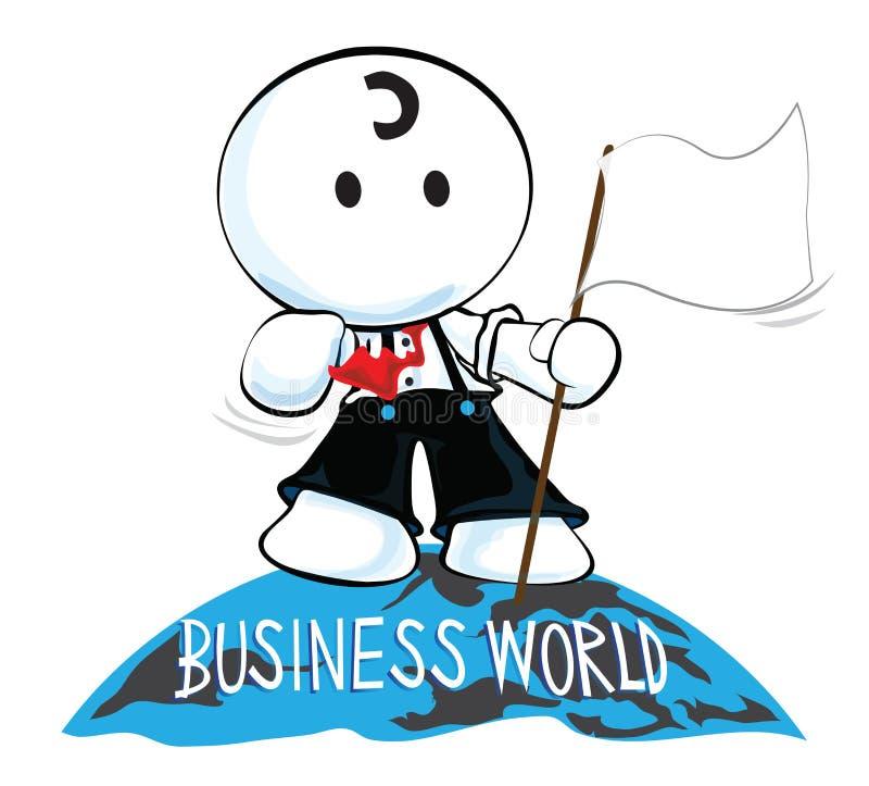 Dessus de monde d'affaires illustration stock