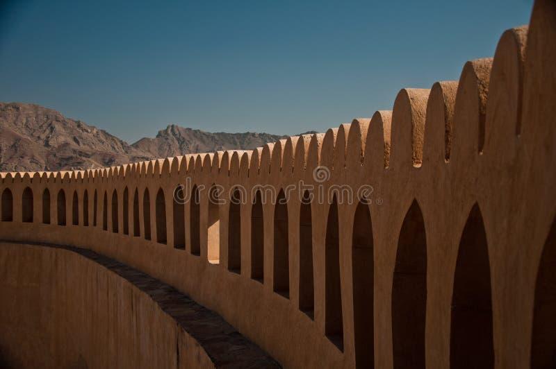 Dessus de mur de forteresse images stock