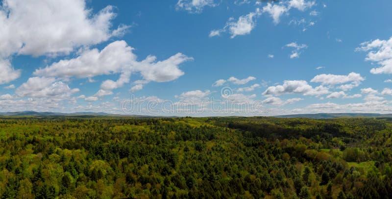 Dessus de Pennsylvania' ; paysage rural de montagnes de s Pocono images stock