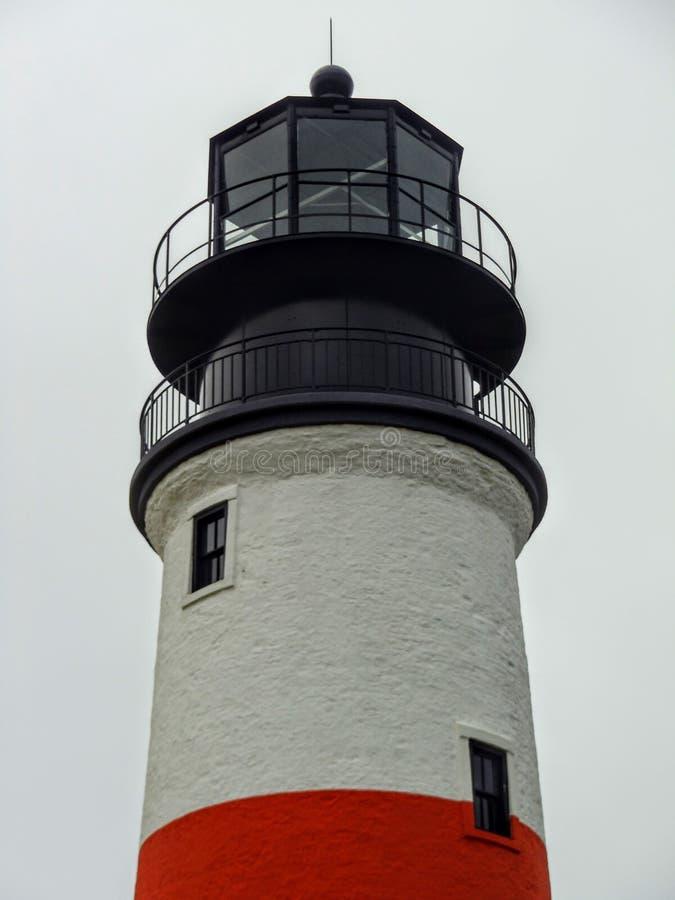 Dessus de phare de tête de Sankaty, Nantucket, le Massachusetts images stock