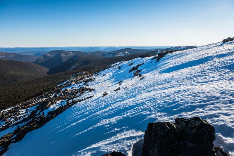 Dessus de Richardson Mountain en parc national de Gaspé au Québec, images libres de droits