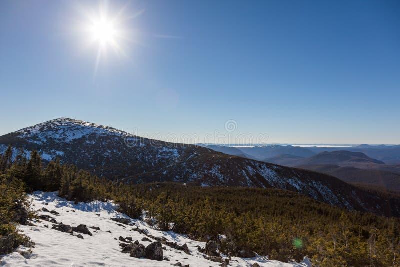 Dessus de Richardson Mountain en parc national de Gaspé au Québec, photographie stock