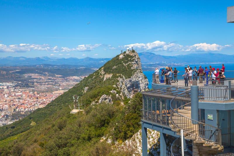 Dessus de roche du Gibraltar image libre de droits