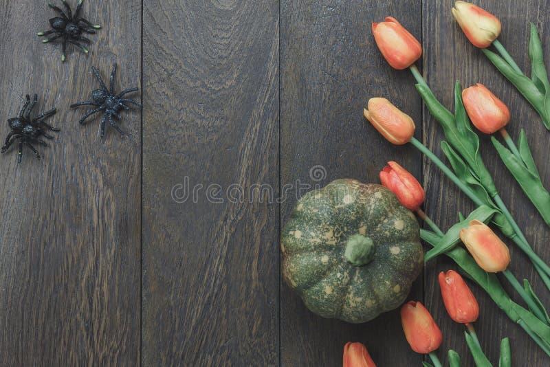 Dessus de Tableau de fond heureux de festival de Halloween de signe de décoration image stock