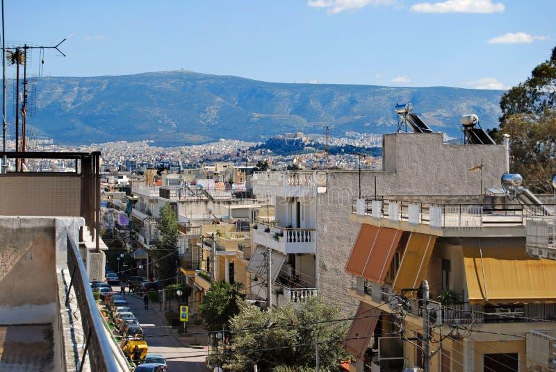 Dessus de toit avec une vue images libres de droits