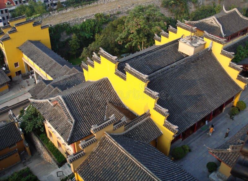 Dessus de toit chinois de temple images stock
