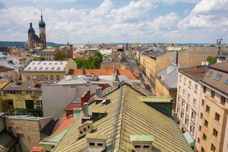 Dessus de toit de Cracovie photographie stock libre de droits