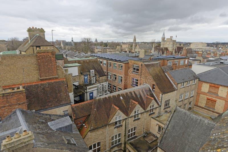 Dessus de toit d'Oxford images libres de droits