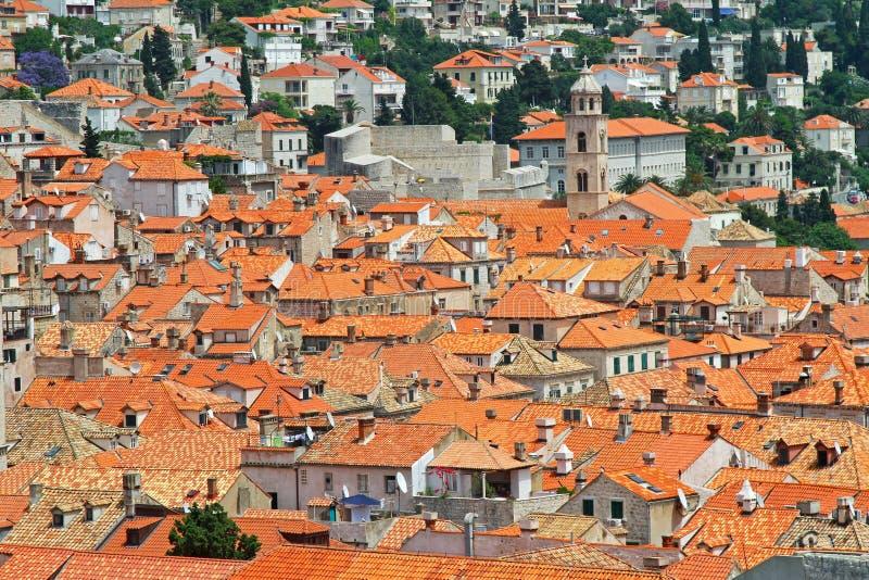 Dessus de toit de Dubrovnik photographie stock libre de droits