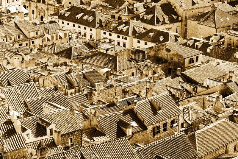 Dessus de toit de Dubrovnik images stock