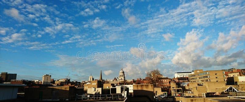Dessus de toit de Nottingham images libres de droits