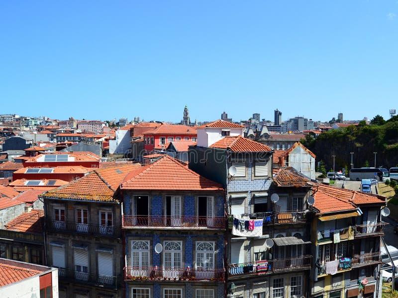 Dessus de toit de Porto photographie stock